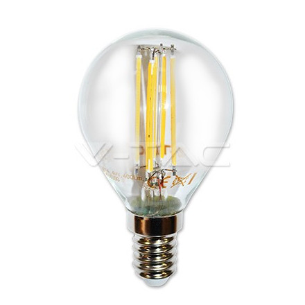 4W LED COG lemputė V-TAC E14, P45 (Šviesos spalva: 2700K), pritemdoma