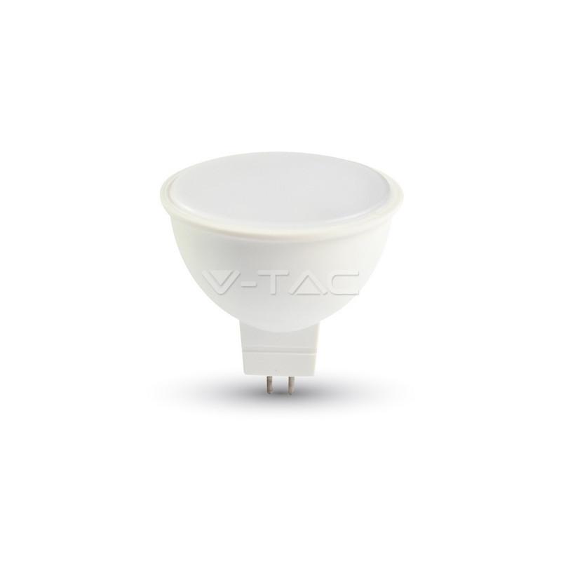 7W LED lemputė V-TAC, GU5.3, AC/DC 12 V, 3000K (šiltai balta)