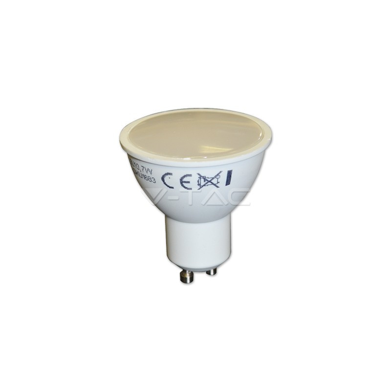 7W LED lemputė V-TAC GU10 SMD, (6400K) šaltai balta