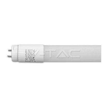 10W LED lempa T8 V-TAC 60cm, plastikiniu dangteliu (šiltai balta: 3000K), reguliuojama