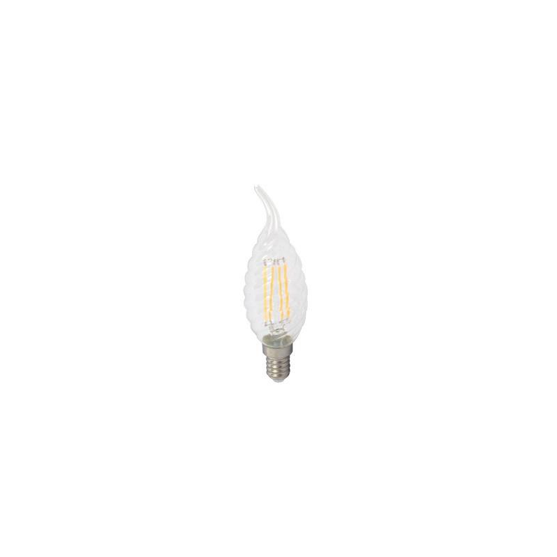 4W LED COG lemputė V-TAC, E14, susuktos žvakes formos, riesta, (4500K) dienos šviesa