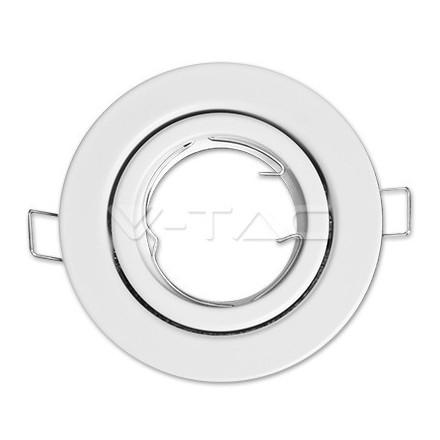 GU10 lemputės rėmelis, V-TAC, apvalus, reguliuojamas