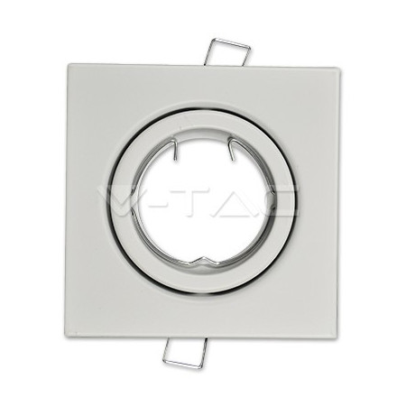 GU10 lemputės rėmelis, V-TAC, kvadratinis,baltas