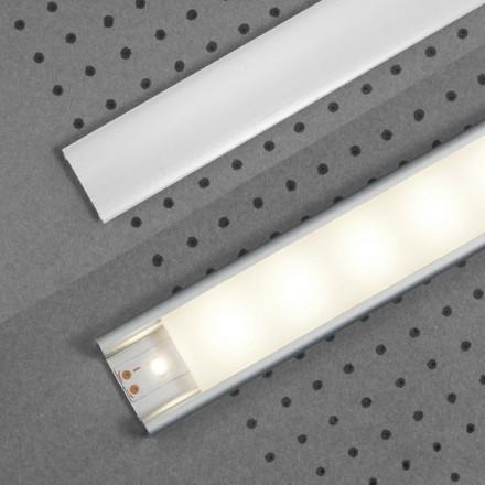 1m LED juostos profilio dangtelis E, baltas