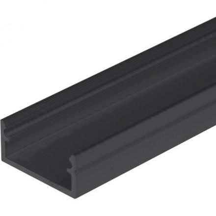 1m LED juostos profilis BEGTON12 (juodai anoduotas)