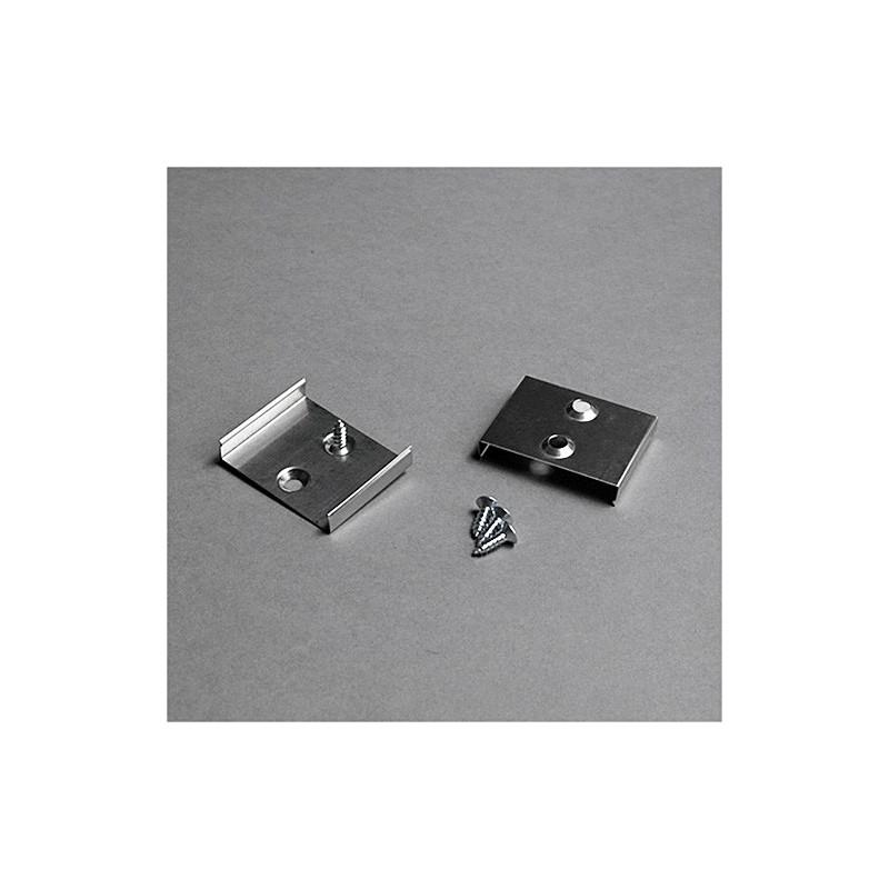 LED juostos profilio tvirtinimo elementas S, baltas