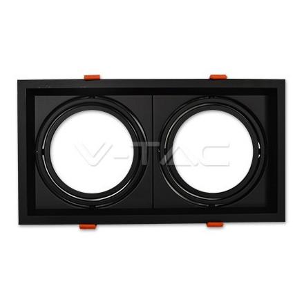 Lemputės laikiklis V-TAC, 2xAR111 , korpusas juodas
