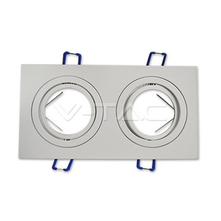 2* GU10 lemputės rėmelis, V-TAC,kvadratinis