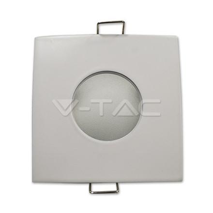 GU10 lemputės rėmelis, V-TAC, kvadratinis, baltas, IP54