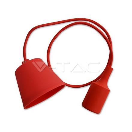 Pakabinamas LED lemputės E27 laikiklis, raudonas