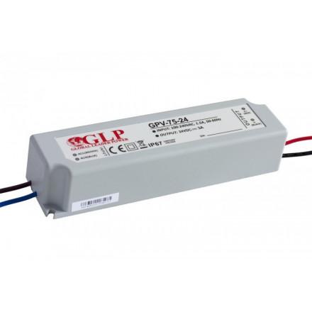 72W LED maitinimo šaltinis GLP 24V, IP67