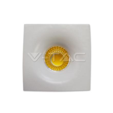 3W LED šviestuvas COB V-TAC, baltu korpusu,kvadratinis, (4000K) dienos šviesa