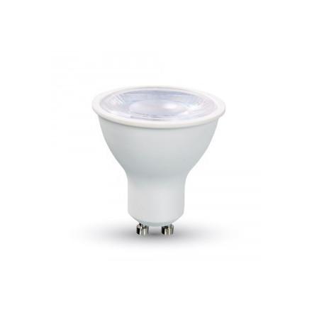 8W LED lemputė V-TAC, GU10, SMD, su lęšiu, (3000K) šiltai balta