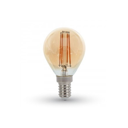 4W LED COG lemputė V-TAC E14, P45,gintariniu paviršiumi (2200K šiltai balta)