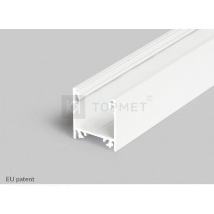1m LED juostos profilis LINEA20, baltas