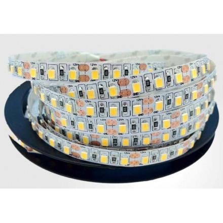 12 W/m LED juosta LUXSONN, 2835, DC24, 120 LED/m, 1190lm/m, (3000K) šiltai balta. Karpoma kas (5 cm)