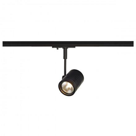 Akcentinis šviestuvas BIMA, GU10 SLV, juodas, montuojamas 1 fazės SLV bėgelyje