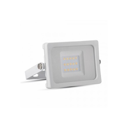 10W LED prožektorius V-TAC, SMD, (4000K) dienos šviesa, baltu korpus