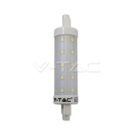 7W LED lemputė V-TAC R7S, 118mm, (2700K) šiltai balta