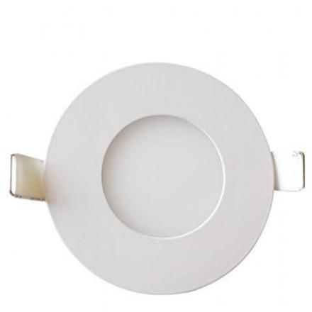 6W LED įmontuojama panelė HOROZ, apvali, su maitinimo šaltiniu, (2700K) šiltai balta