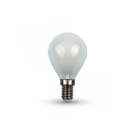 4W LED lemputė V-TAC 220V Е14 P45 , matiniu dangteliu (4000K) dienos šviesa