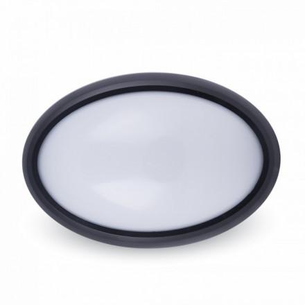 8W Kupolo tipo juodas šviestuvas,IP66, V-TAC, 3000K (šiltai balta)