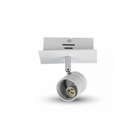 1 x GU10 lemputės rėmelis, V-TAC,baltas, pritaikytas paviršiniam montavimui