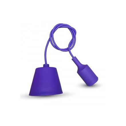 Pakabinamas LED lemputės E27 laikiklis, violetinis