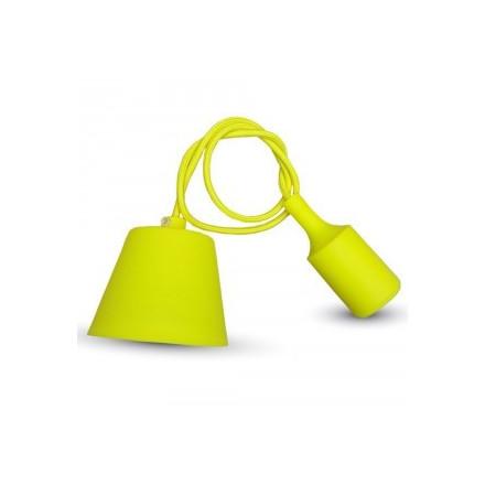 Pakabinamas LED lemputės E27 laikiklis, geltonas