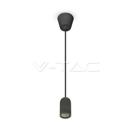 Pakabinamas LED lemputės E27 laikiklis, betoninis, juodas