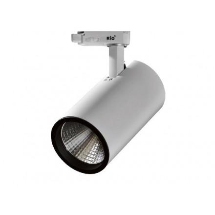 31W LED Šviestuvas ant bėgelio RIO, baltu korpusu,šviesos kampas: 60° 4000K (natūraliai balta).