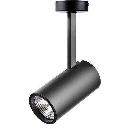 31W LED Šviestuvas paviršinio montavimo RIO, juodu korpusu,šviesos kampas: 60°, 3000K (šiltai balta).
