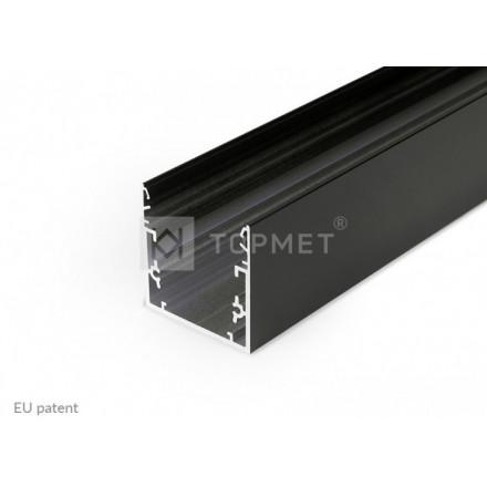 1m LED juostos profilio PHIL53, juodas