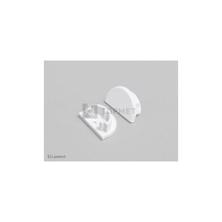 LED juostos profilio ARC12 D užbaigimo elementas (baltas)