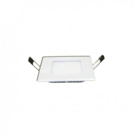 3W LED įmontuojama panelė HOROZ, kvadratinė, su maitinimo šaltiniu, (2700K) šiltai balta