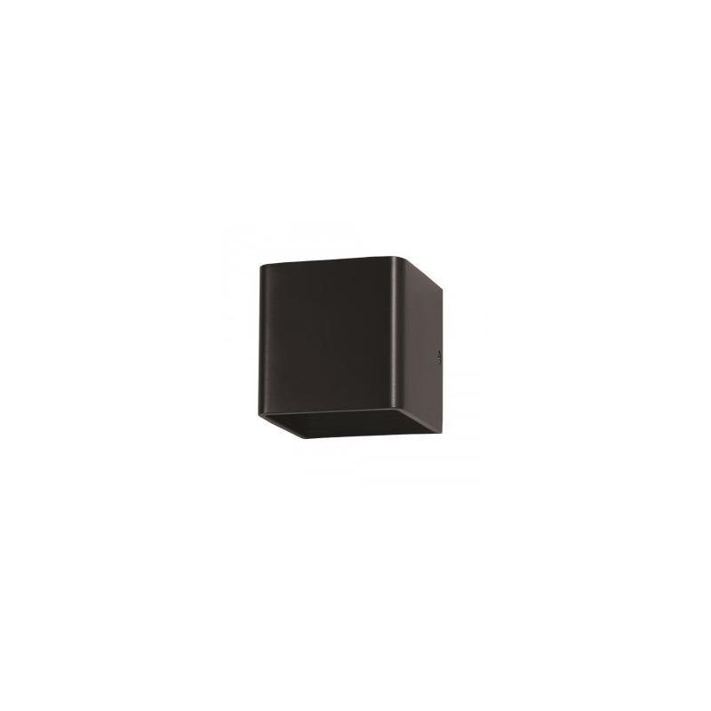 5W LED sieninis šviestuvas V-TAC, (LED SMD), kvadratinis, juodas (3000K) šiltai balta