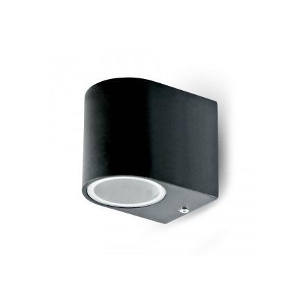 Ant sienos tvirtinamas GU10 aptakus laikiklis,aliuminis,apvalus,juodas IP44