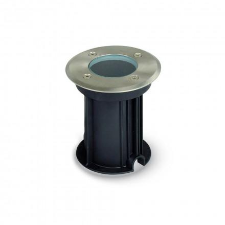 Požeminis nerūdijančio plieno GU10 laikiklis, juodas, apvalus, IP65