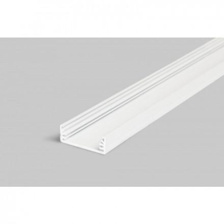 1m LED juostos profilio WIDE24, baltas