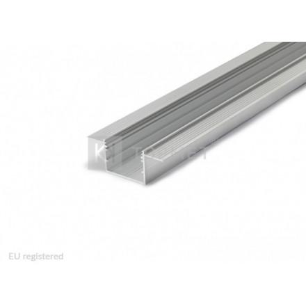1m LED juostos priglaistomo profilio VARIO30-05 anod.