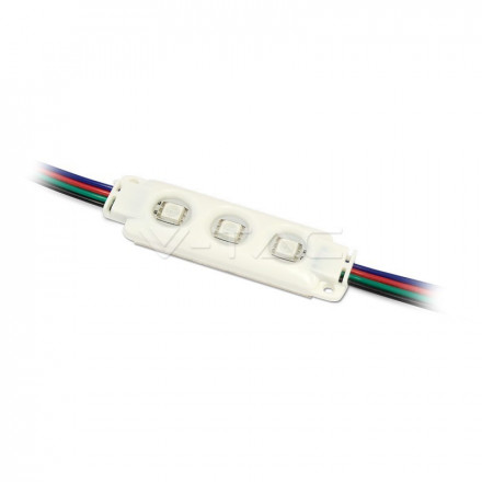 LED Modulis  3SMD , IP66, SMD5050, šviesos spalva: RGB