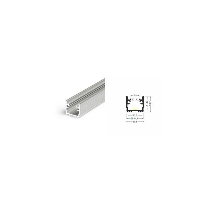 1m LED juostos profilis FLOOR12, anoduotas