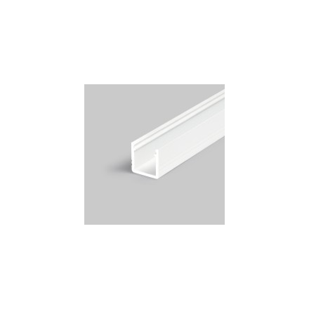 1m LED juostos profilio SMART10 12x12, baltai nudažytas aliuminis.