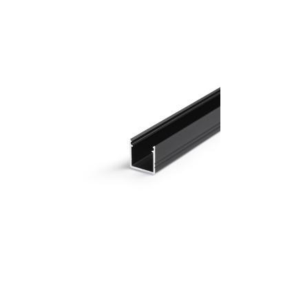 1m LED juostos profilio SMART10 12x12, juodai anoduotas aliuminis.