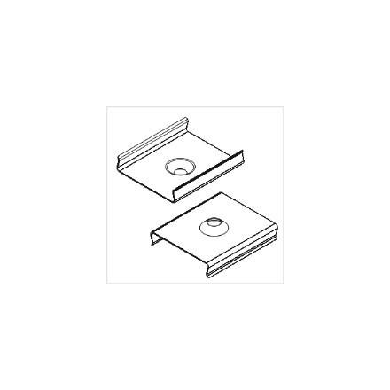 LED juostos profilio tvirtinimo elementas U, kūginis.