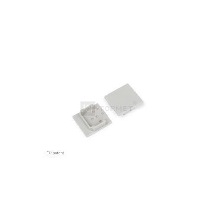 LED juostos profilio LINEA20 užbaigimo elementas, pilkas