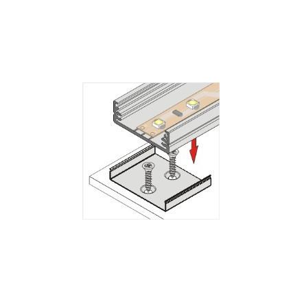 LED juostos profilio tvirtinimo elementas kūginis W, baltas