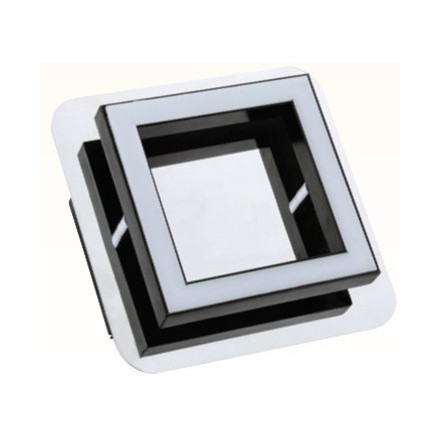 5W LED paviršinis šviestuvas HOROZ, (LED SMD), chromas, (4000K) natūraliai balta