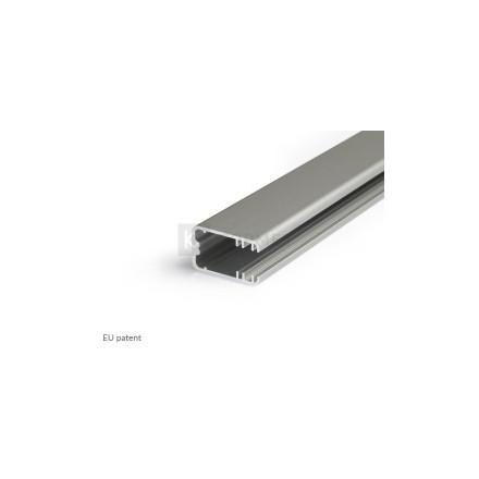 1m LED juostos profilio MIKRO-LINE12, anoduotas