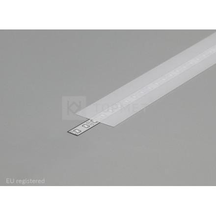 1m LED juostos profilio dangtelis A9, matinis.